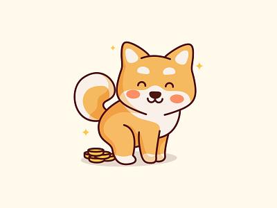 Shiba Inu Coin poop adorable doge dogcoin shiba shiba inu shiba coin coin kawaii cute logo brand digital bitcoin designwakket animal character
