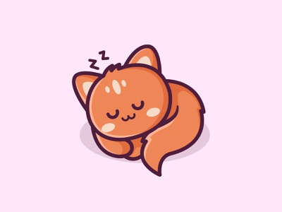 Kitty Nap jaysx1 identiti branding mascot character cartoon cat kitten sleeping bed cozy comfertable comfy sleep happy logo relax nap cute adorable