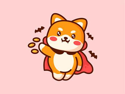 Shiba Dracu jaysx scary vampire dracula doge coin crypto coin doge dog shiba halloween branding design animal kawaii mascot logo character illustration cute