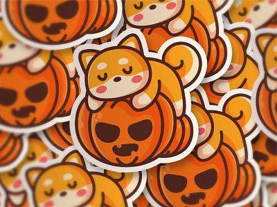 Happy Halloween pet vector nap adorable sleep halloween nft crypto shiba inu cartoon dog shiba doge animal kawaii logo mascot character illustration cute