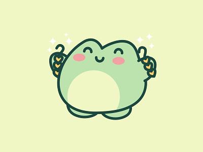 Ferog With Earings kawaiicute cutefrogs adorable art vector forg jaysx1 design animal kawaii mascot logo character illustration cute