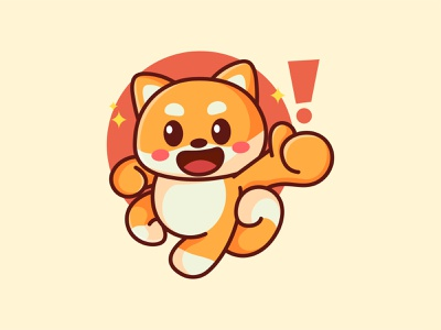 Shiba Inu jaysx1 adorable dogecoin doge dog shibainu shiba branding design animal kawaii mascot logo character illustration cute