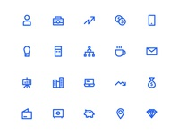 Business Icons In Line Style