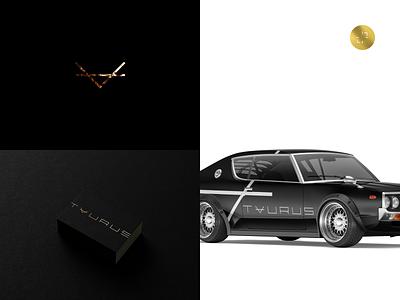 Taurus Group mockup typedesign typeface type dark design logo logotype icon branding identity design