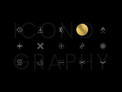 Taurus Group identity iconography set lines icons design iconset vector illustration dark identity design icon branding