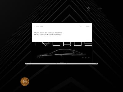 Taurus Group luxury brand luxury design luxury awwwards website design webdesign icon flat minimal web ux branding typography dark ui
