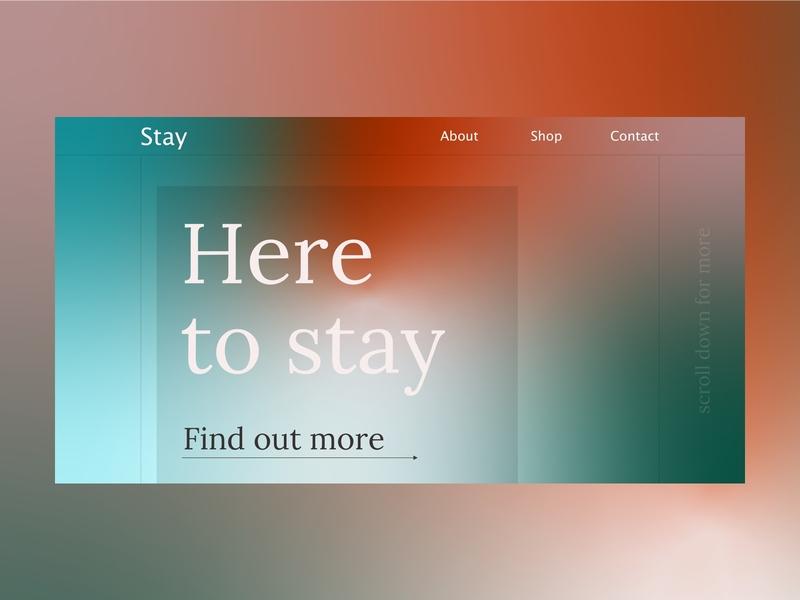 Gradient landing page flat ux agency website vector web ui design illustration branding typography