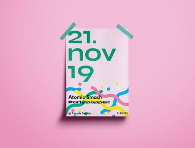 Atomic Smash is 9 🎂 print poster design branding typography