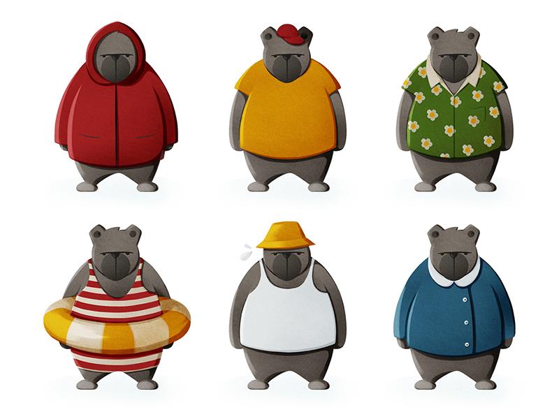 Love the bear childrens book illustration icon character design illustration