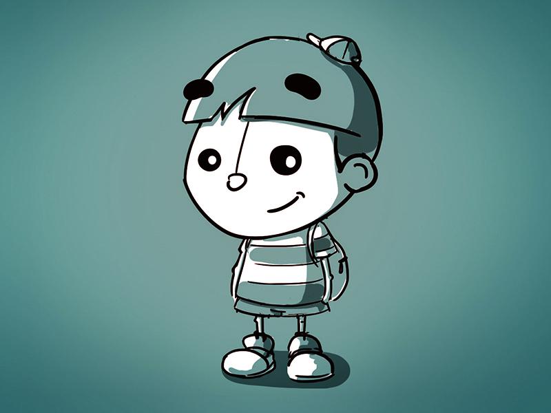 Kiddo boy kids childrens books illustration character design character work in progress wip sketch