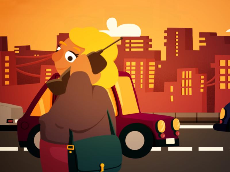 Communication animated character design character design illustration digital 2d animation
