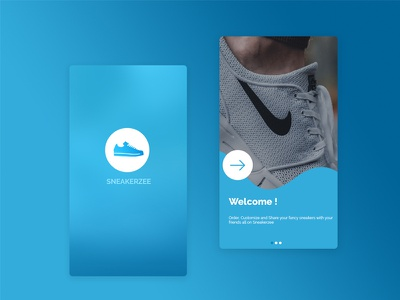 Sneaker app for sneakers lovers photoshop cc uiux
