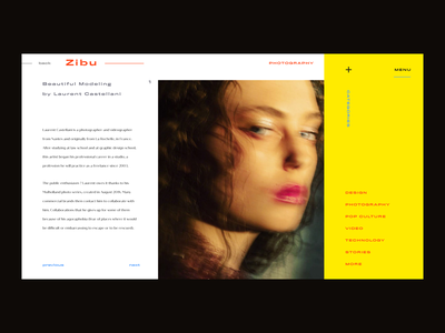 Editorial Blog Article Inner Page Concept ux photo journal inspiration interface imagery gallery concept blog design blog design article ui design ui