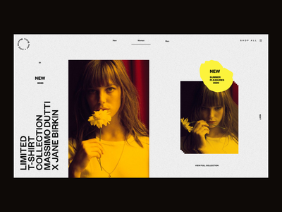 Women Collection Preview new collection webdesign website web preview pre order webshop shopping ecommerce ui design ui  ux clothing brand models grid collection product page fashion ui ui fashion