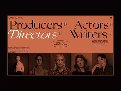 womeninmovies -  Categories page movie cinema home page category page motion graphics woman animation web ui design design webdesign interface ui