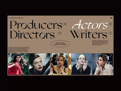 WOMENINMOVIES - Alternative Categories page ui interface webdesign design ui design web animation woman motion graphics category page home page cinema movie
