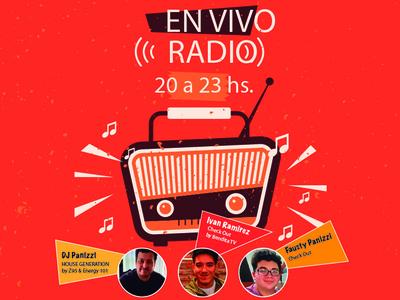 Radio Live vector illustrator web logo design branding
