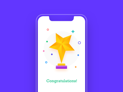 Congrats! You've got a Trophy! app animation illustration trophyicon icon ui congratulation gift card scratch gift trophy
