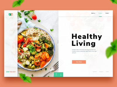 Healthy Living ux food web illustration design icon app ui