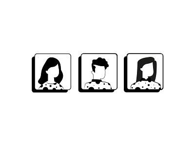 Avatar 01 web ui logo illustration profile face black icon avatar design avatar