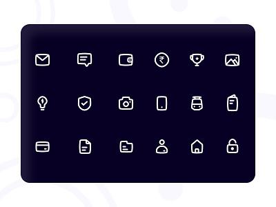 Dark Mode Icons | Payments dark theme dark mode dark app dark ui newstyle icon design iconography icons set payments icons darkmode
