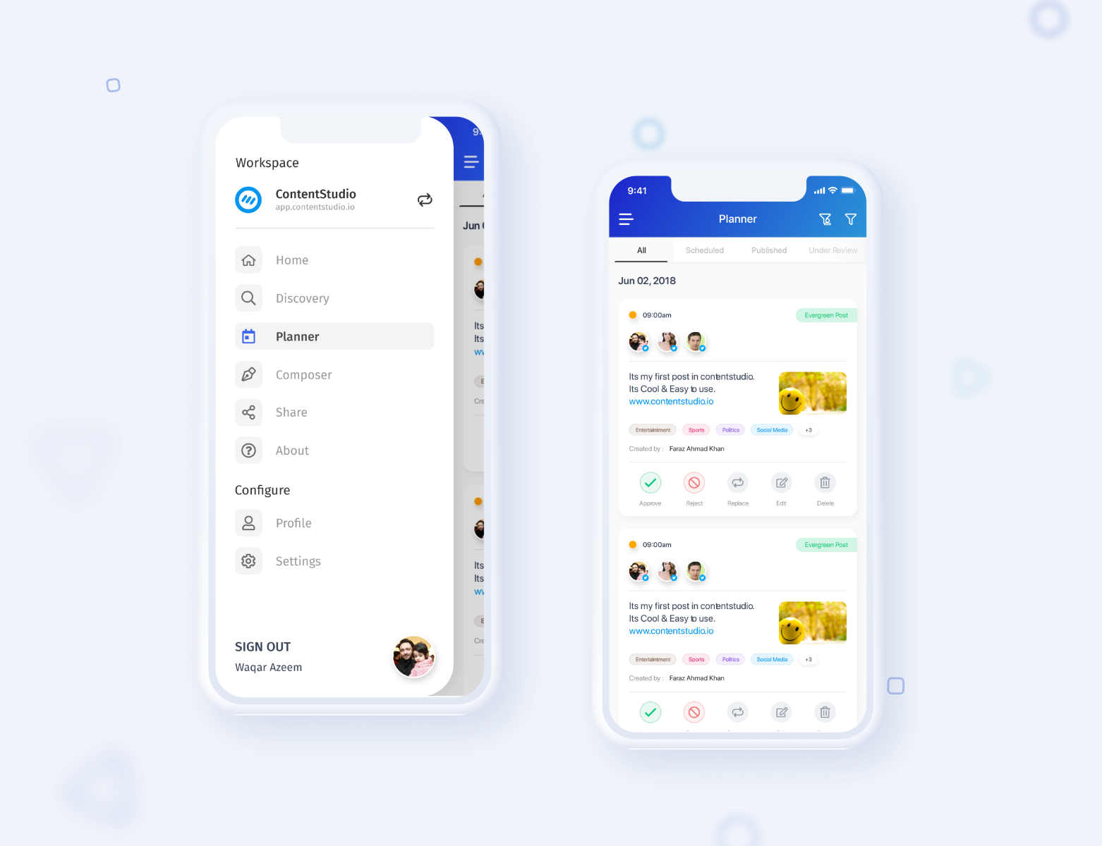 Social Media Marketing App Ui Design By Faraz Ahmad Khan On Dribbble