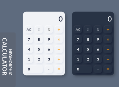 Mobile Calculator Neomorphism ui