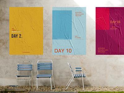 COVID-19 Banners typography design branding