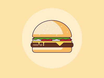 Cheese Burger branding ui icon vector art vector illustration design