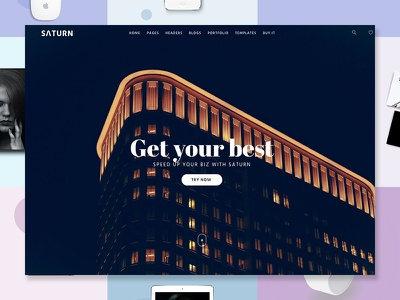 Saturn - Multiuse and Accurate WordPress Theme portfolio photography one page multipurpose modern landing freelance composer business blog agency wordpress