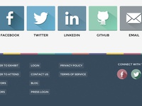Flat Social Media OAuth Buttons
