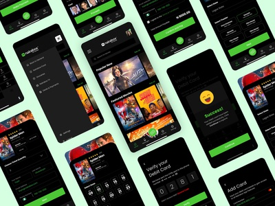 Nairabox Cinema Ticketing Mobile App movie app dark theme dark mode dark app dark designs dribbble best shot dribbble typography app ui design illustration ux user interface user experience dribblers design ticket cinematicket cinema