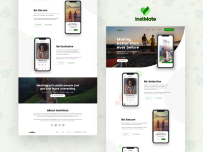 InstMate Dating App Landing Page