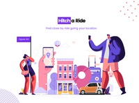 Hitch a Ride Illustration