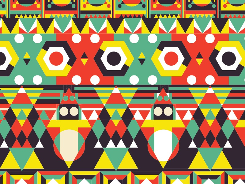 Poster Pattern 3 pattern colors illustration poster geometric vector