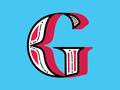 Glyphset 2014 Mark glyphset mark identity branding logo lettering letters type milwaukee drop cap