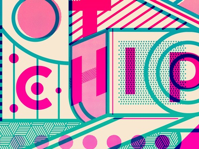 Why Make Sense? geometrical linework thick lines experimental music typography overlay pattern shapes gig poster