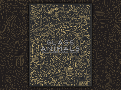 Glass Animals Gig Poster poster catharsis music typography drawing geometric abstract print metallic pattern illustration gig poster
