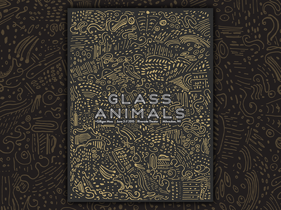 Glass Animals Gig Poster