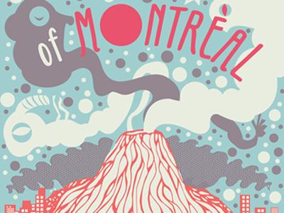 of Montreal Print printmaking screen print gig posters illustration of montreal music