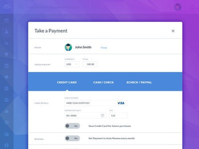 Take A  Payment Concept