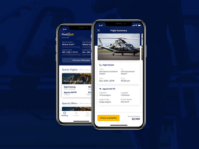 Check Availability - FindHeli trip request passenger transport rent helicopter flight schedule iphone x ux ui booking book offers design availability ios