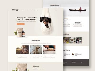 CBDoggy  - Website flat minimal website web typography packaging branding ui ux wesbite