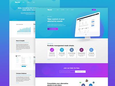 Raziel - Alternative Investments Dashboard logo website design website web ui ux dashboard