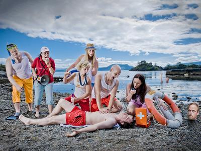 Oktan Summertime! summer oktan orange blue red ocean lifeguard