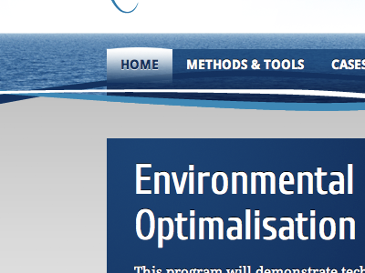 Environmental blue grey web