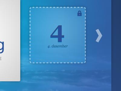 A Christmas Calendar blue maritime