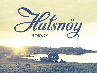 Halsnöy typography halsnöy love rebound blue yellow