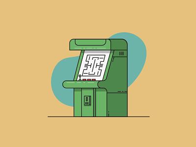 Arcade automatic flat work illustration