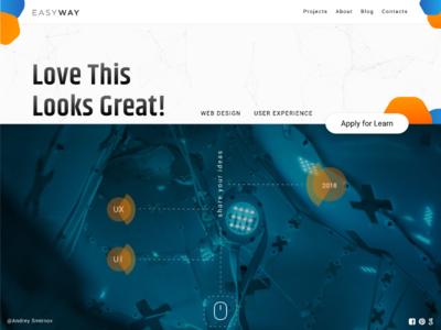 Easy Way Studio promo ui ux design web